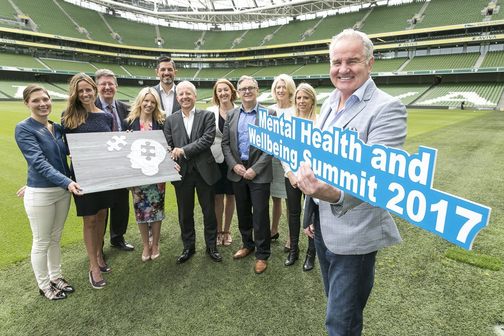 RUGBY PLAYERS IRELAND AT MENTAL HEALTH & WELLBEING SUMMIT